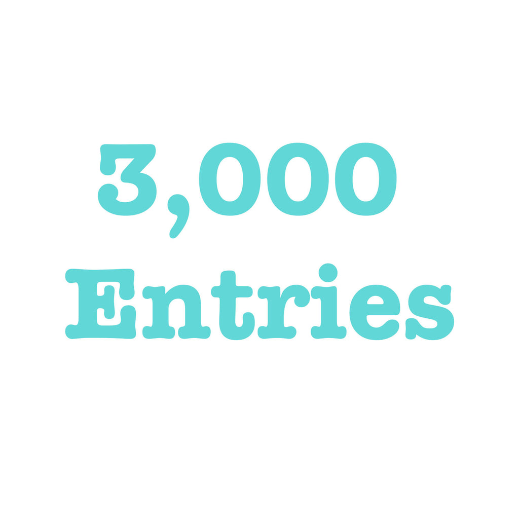 Donate To Get 3,000 Entries