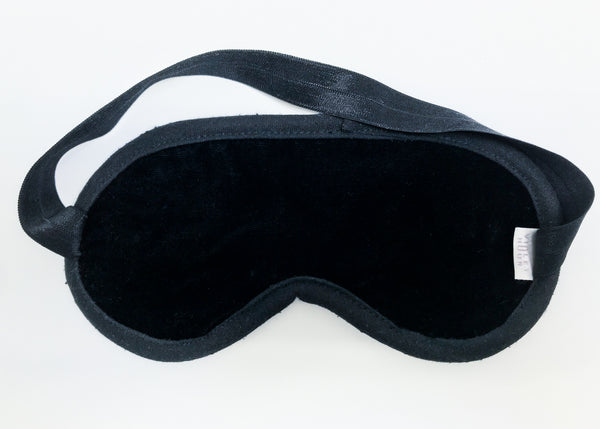 Silk Velvet Eye Mask | Black