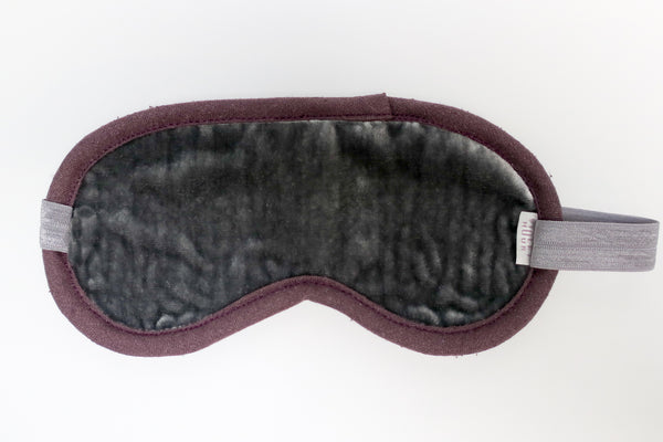 Silk Velvet Eye Mask | Silver