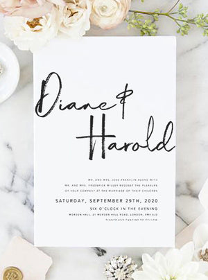 Diane Modern Wedding Invitation