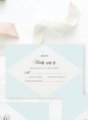 Arianna Colored RSVP Card