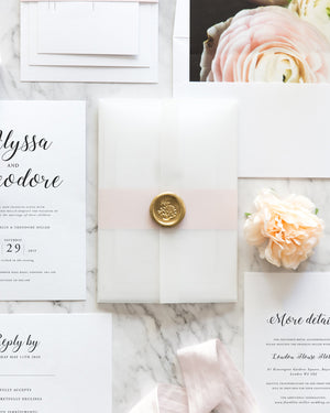 vellum wedding invitation
