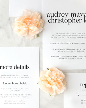 Audrey Modern Wedding Invitation