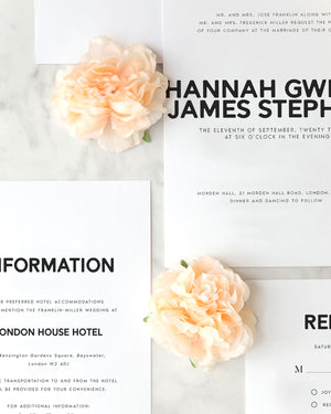 Hannah Modern Wedding Invitation