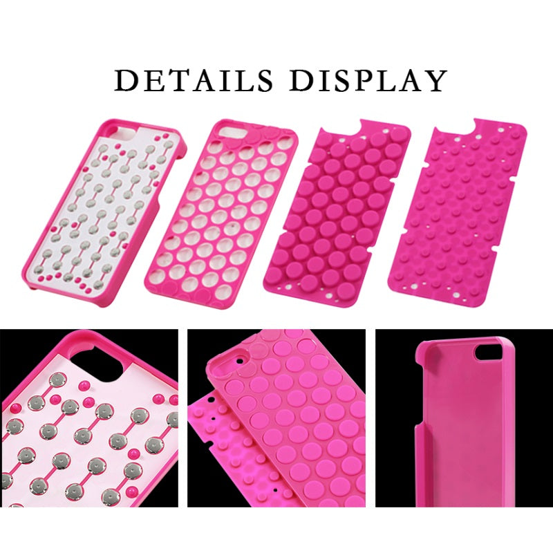 the latest a9107 9ad6b DULCII for iPhone 6 6s Plus 7 8 Phone Case Coque Novelty Pop Sound Bubble  Wrap Back Cover for Apple 5 5s SE Shells Bag