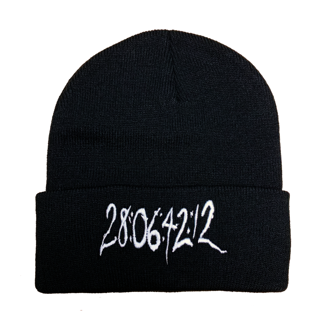 28064212 Donnie Darko Embroidered Beanie - UNMASKED Horror & Punk Patches and Decor