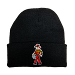 8-bit Freddy Embroidered Beanie - UNMASKED Horror & Punk Patches and Decor