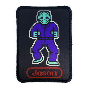 8-bit Jason Iron-On Patch - UNMASKED Horror & Punk Patches and Decor