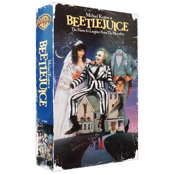 Beetlejuice Cartoon Drink Coaster - UNMASKED Horror & Punk Patches and Decor