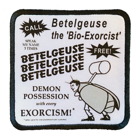 Beetlejuice Business Card  Iron-On Patch
