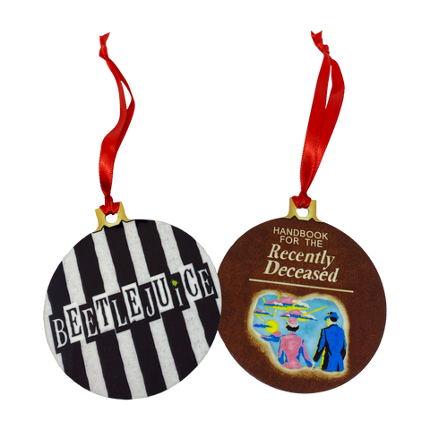 Beetlejuice 2-Sided Holiday Ornament - UNMASKED Horror & Punk Patches and Decor