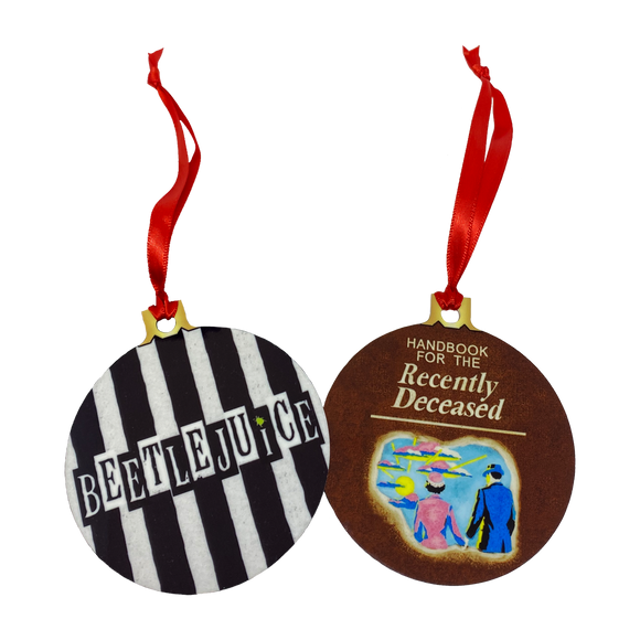 Beetlejuice 2-Sided Holiday Ornament