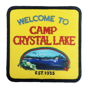 Camp Crystal Lake Iron-On Patch - UNMASKED Horror & Punk Patches and Decor
