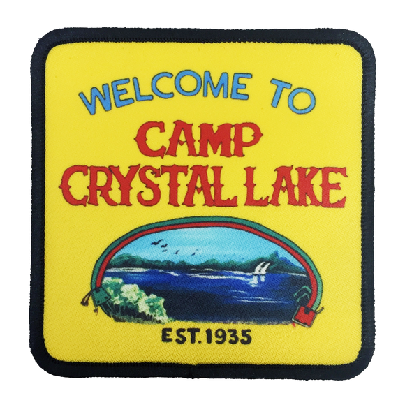 Camp Crystal Lake Iron-On Patch - UNMASKED