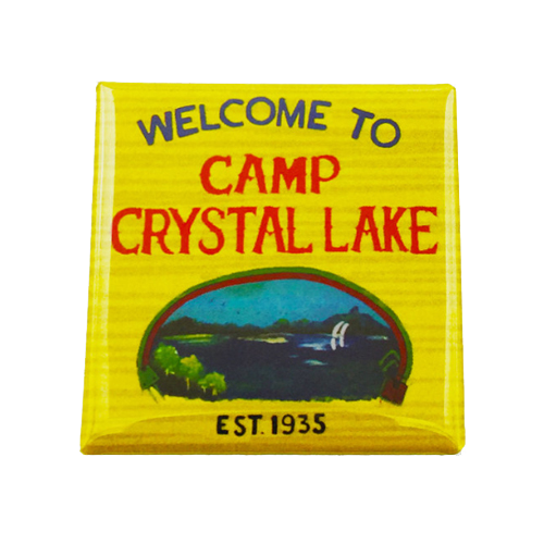 Camp Crystal Lake Magnet - UNMASKED Horror & Punk Patches and Decor