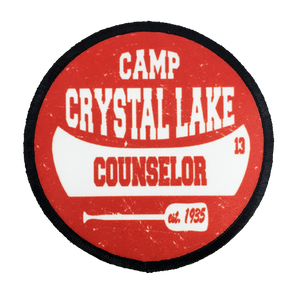 Camp Crystal Lake Counselor Iron-On Patch - UNMASKED