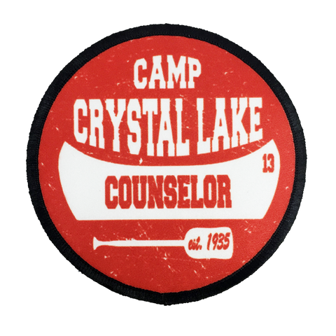 Camp Crystal Lake Counselor Iron-On Patch - UNMASKED Horror & Punk Patches and Decor