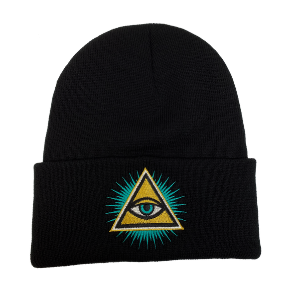 Illuminati Evil Eye Embroidered Beanie
