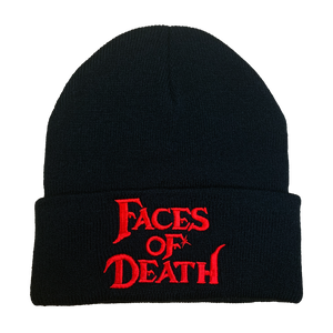 Faces of Death Embroidered Beanie - UNMASKED Horror & Punk Patches and Decor