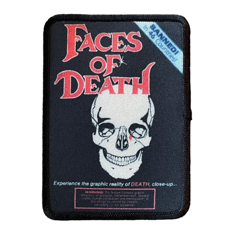 Faces of Death Iron-On Patch - UNMASKED Horror & Punk Patches and Decor
