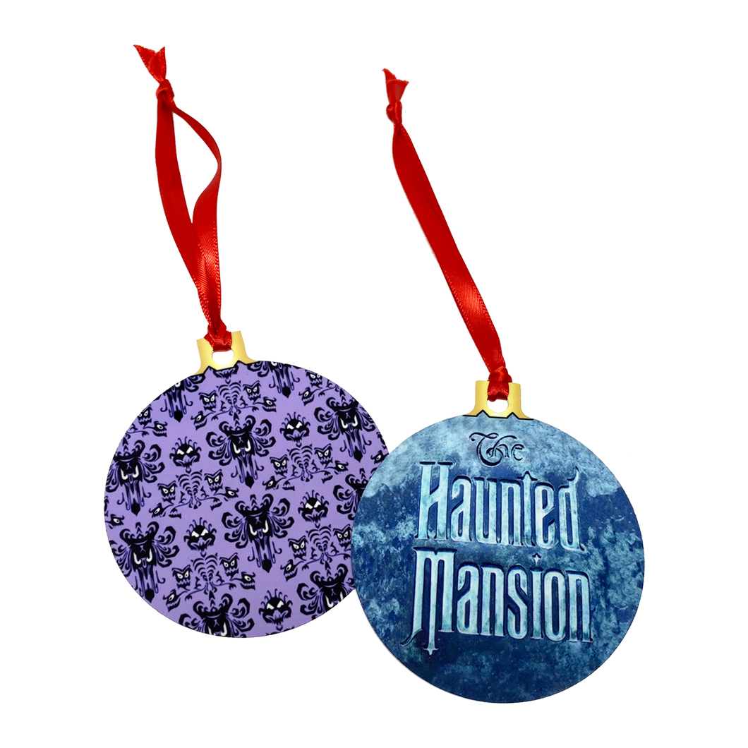 Haunted Mansion 2-Sided Holiday Ornament - UNMASKED Horror & Punk Patches and Decor