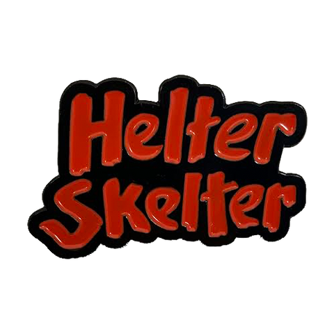 Helter Skelter Enamel Pin - UNMASKED Horror & Punk Patches and Decor