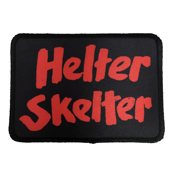 Helter Skelter Iron-On Patch - UNMASKED Horror & Punk Patches and Decor