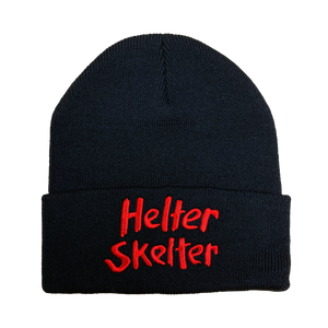 Helter Skelter Embroidered Beanie - UNMASKED Horror & Punk Patches and Decor