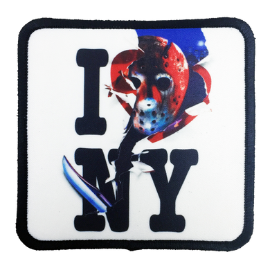 Friday the 13th Jason Takes Manhattan Iron-On Patch - UNMASKED Horror & Punk Patches and Decor