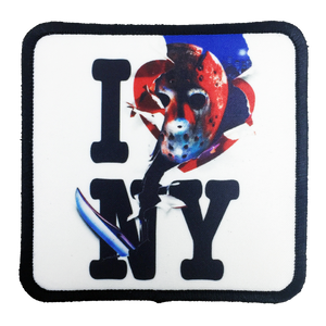 Friday the 13th Jason Takes Manhattan Iron-On Patch - UNMASKED