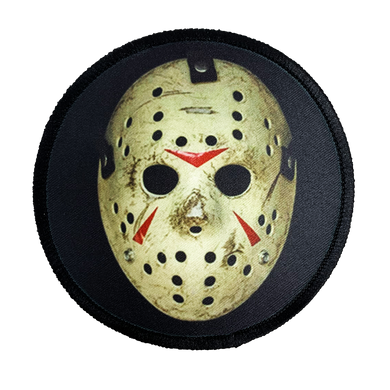 Friday the 13th Part 3 Jason Hockey Mask Iron-On Patch - UNMASKED Horror & Punk Patches and Decor