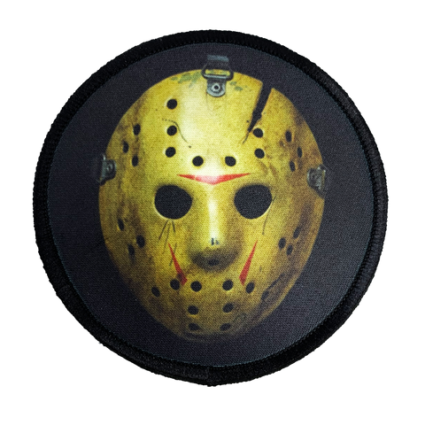 Friday the 13th Part 8 Jason Hockey Mask Iron-On Patch - UNMASKED Horror & Punk Patches and Decor