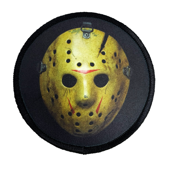 Friday the 13th Part 8 Jason Hockey Mask Iron-On Patch - UNMASKED