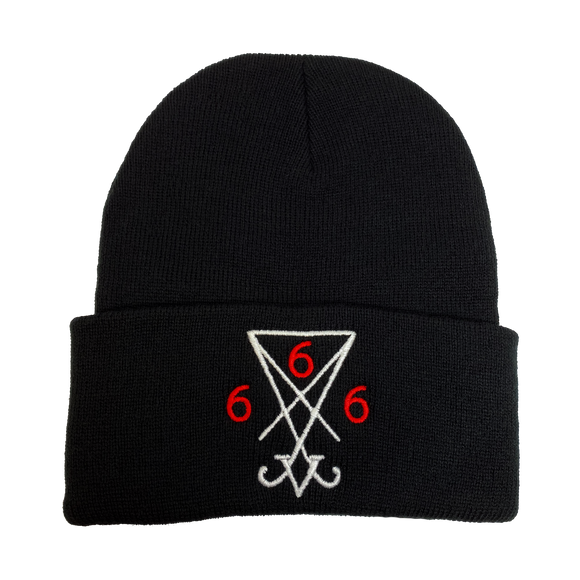 Sigil of Lucifer Embroidered Beanie