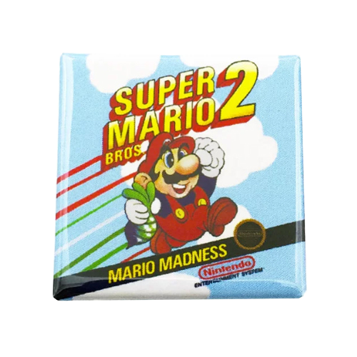 Super Marios Bros. 2 Magnet - UNMASKED Horror & Punk Patches and Decor