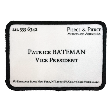 American Psycho Business Card Iron-On Patch