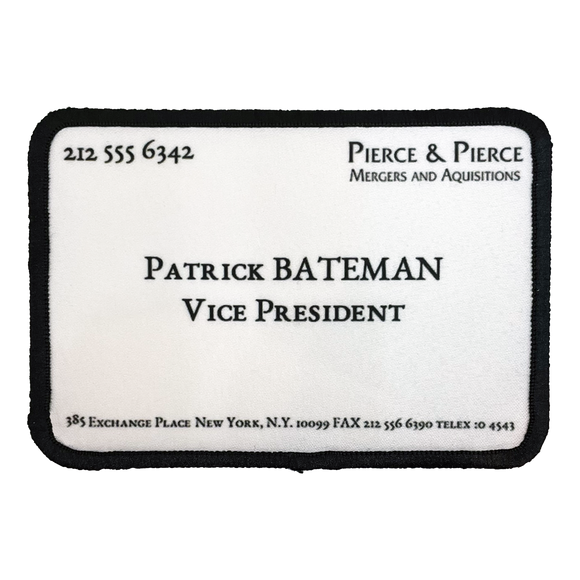 American Psycho Business Card Iron-On Patch - UNMASKED