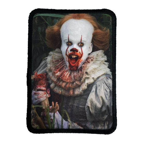 It Movie 2017 Pennywise Iron-On Patch - UNMASKED Horror & Punk Patches and Decor