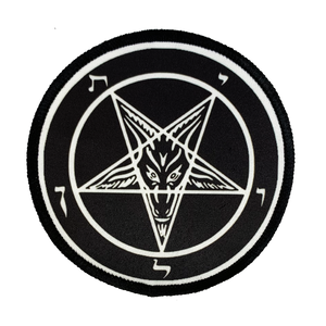 Pentagram Iron-On Patch - UNMASKED Horror & Punk Patches and Decor