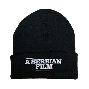 A Serbian Film Embroidered Beanie - UNMASKED Horror & Punk Patches and Decor