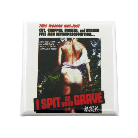 I Spit On Your Grave Magnet - UNMASKED Horror & Punk Patches and Decor