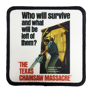 Texas Chainsaw Massacre Iron-On Patch - UNMASKED Horror & Punk Patches and Decor