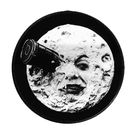A Trip to the Moon Phone Grip - UNMASKED Horror & Punk Patches and Decor