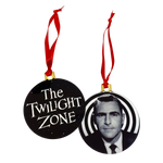 Twilight Zone 2-Sided Holiday Ornament - UNMASKED Horror & Punk Patches and Decor