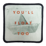 You'll Float Too Iron-On Patch - UNMASKED Horror & Punk Patches and Decor