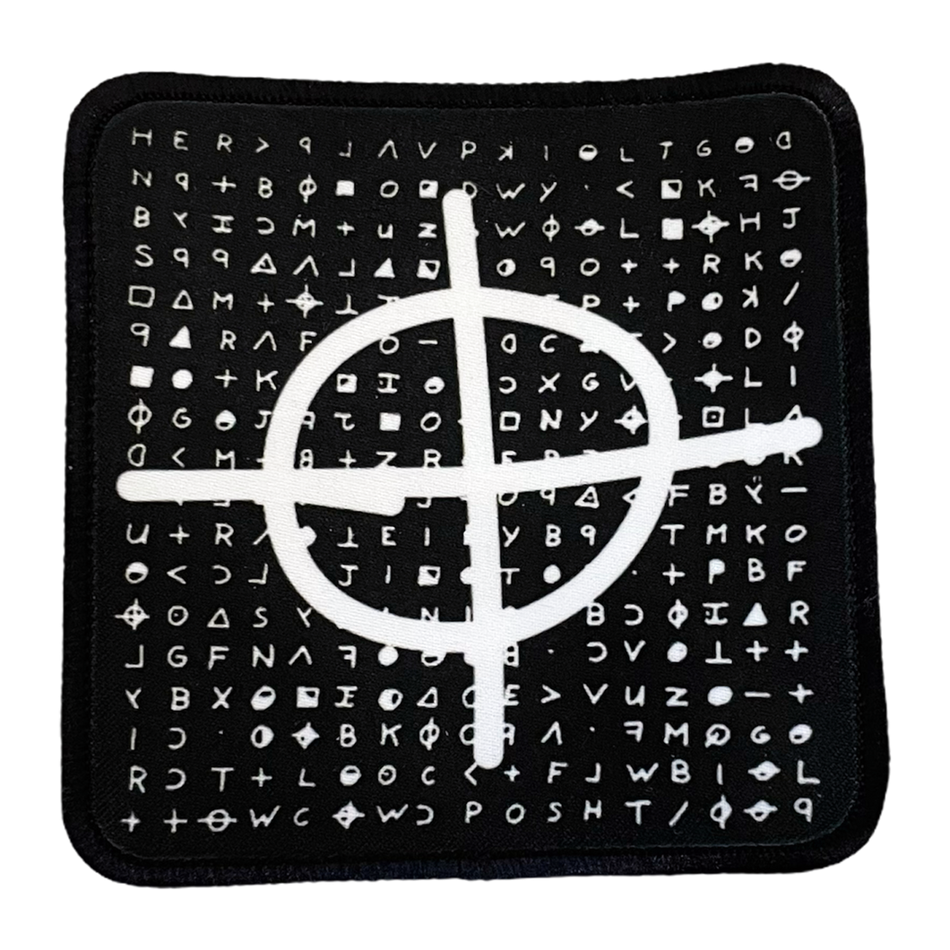 Zodiac Killer Inverted Iron-On Patch