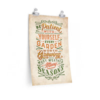 Be Patient With Yourself — Seasons Print
