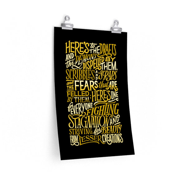 Cheers To The Makers Vol. II — Gold Triptych Print