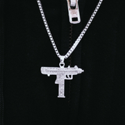 White Gold Uzi Pendant