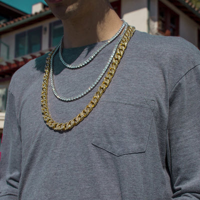 Cuban + Tennis Chains Bundle